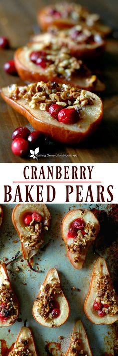 Festive cranberry baked pears are the perfect kid pleasing yet healthy treat for the holidays!