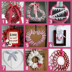 A collection of Valentine Wreath Posts