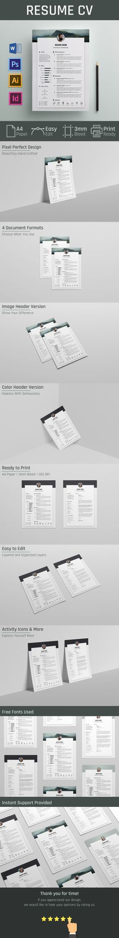 Download Clean Resume Cv Template Free Psd This Free Resume Cv Is