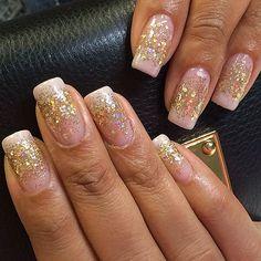 #ShareIG malishka702_nails | Such pretty gel polish nails by Gladys!!