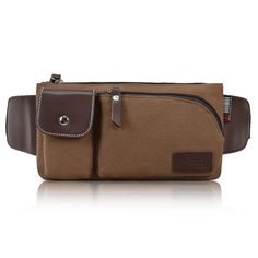 Unisex canvas chest pack small waist bag waist pack canvas casual accessories bag