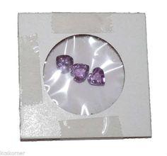 Lot of 3 Natural Faceted 7mm Heart Shape Amethyst Gemstones