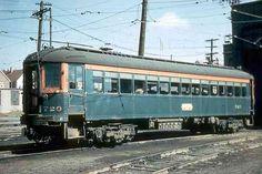 Chicago, North Shore and Milwaukee Railroad interurban coach near the Harrison Street station. Milwaukee Wisconsin circa 1950's. by Eddie fr...