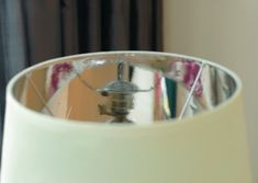 diy Little Green Notebook: Lining Lampshades with Metallic Paper