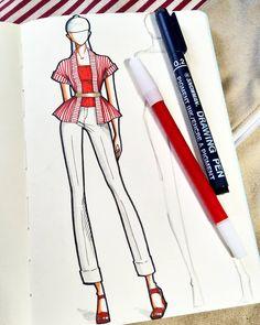 harry sandi (@harry_sandi) • Фото и видео в Instagram Fashion Model Sketch, Fashion Design Sketchbook, Fashion Design Portfolio, Fashion Design Drawings, Fashion Sketches, Moda Fashion, Fashion Art, Fashion Illustration Dresses, Fashion Illustrations
