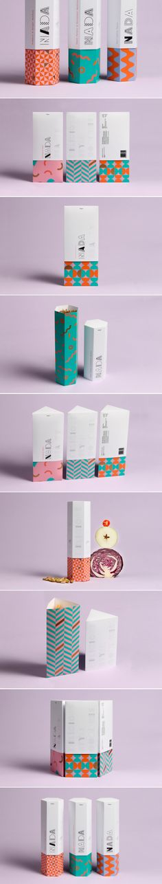 Nice use of pattern, if it was a retro style print contrasted with modern clean graphics Retro Packaging, Clever Packaging, Toy Packaging, Food Packaging Design, Paper Packaging, Packaging Design Inspiration, Brand Packaging, Branding Design, Branding Ideas