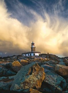 Faro de Corrubedo, Galicia, España