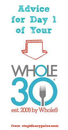 Advice for Day 1 of Your Whole30! If you're just getting started, you need to read this. Click here >> http://stupideasypaleo.com/2014/01/01/advice-for-day-one-whole30/ #whole30 #paleo #eatclean