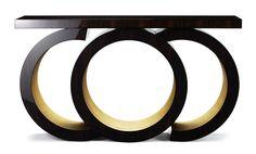 DAVIDSON London - The Scarsdale Console in Macassar Ebony & Gold Leaf