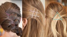 Helpful bobby pin tricks for my little wispy strands of hair