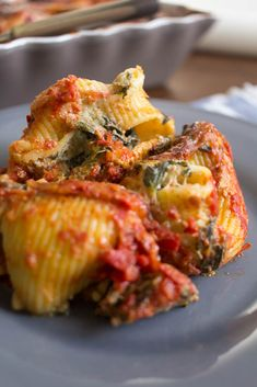 Spinach Ricotta, Stuffed Pasta Shells, Greek Recipes, Quiche, Recipies, Food And Drink, Meals, Dinner, Cooking