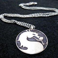 Mortal Kombat necklace by Boxinghobo