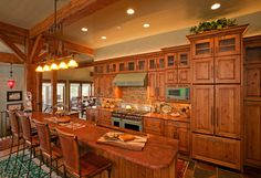 Rustic Mountain Home traditional kitchen