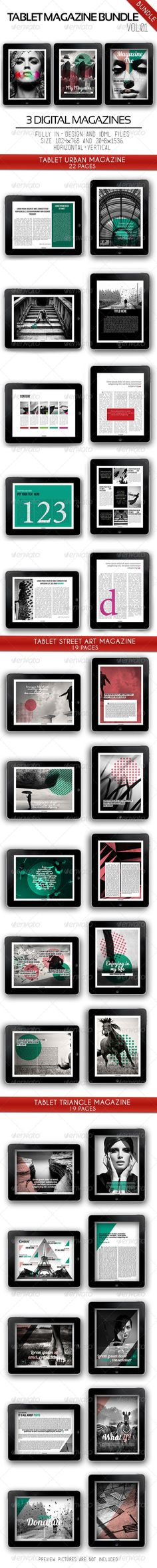 #Tablet Magazine Bundle Vol.01 - Digital #Magazines #ePublishing