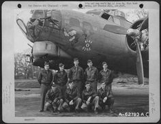 """Nine O Nine""B-17G-30-BO Flying Fortresss/n 42-31909323rd Bomb Squadron, 91st Bomb Group, 8th Air Force.Pictured with one of her many crews, she flew 140 combat missions  between March 1944 and April 1945. She was returned to the U.S. after  the end of hostilities and was, sadly, sent ot the scrappers at  Kingman,AZ.She is showing 71 missions."