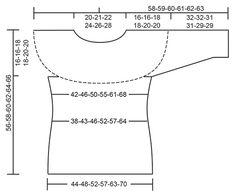 Gebreide DROPS trui met kantpatroon, ronde pas en ¾ mouwen van Cotton Light. Maat: S - XXXL. Gratis patronen van DROPS Design.