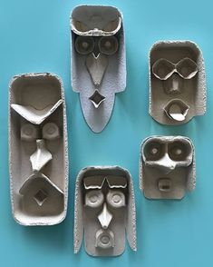 Egg carton faces kids crafts by Mini Mad Things Kids Crafts, Projects For Kids, Diy For Kids, Arts And Crafts, Funny Crafts For Kids, Preschool Art Projects, 3d Paper Crafts, Stem Projects, Big Kids