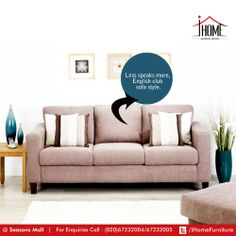 If you are homely, then this if your comfort zone!  Let the rest stay untouched. Sofa's by #iHome #Furniture #interiordecor Seasons Mall #Pune