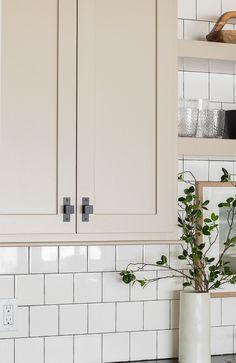 Taupe Kitchen Cabinets, Wet Bar Cabinets, Grey Kitchen Island, Kitchen Cabinet Colors, Painting Kitchen Cabinets, Kitchen Paint, Kitchen Redo, Home Decor Kitchen, Kitchen Design