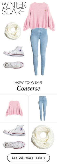 """""""SIMPLE WINTER DAY"""" by bonnieroseberte on Polyvore featuring Converse and winterscarf"""
