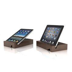 Solid iPad Stand Walnut