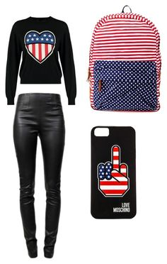 """amercian flag"" by breyona37 ❤ liked on Polyvore"