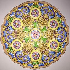 """Pedazos de Sueños"", mandala do livro Mandalas de Al-Andaluz.  #alandaluz #zendala #zen #yoga #mandalaart #mandala #adultcoloringbook #adultcoloring #becreative #coloring #colorful #coloringbook #coloringforadults #design #drawing #espanish #livrodecolorir #nostress #mindfulness #doodle #zentangle #meditation #coloringmandalas"