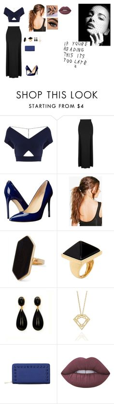 """Sem título #13"" by laurenmello-473 on Polyvore featuring Roland Mouret, Topshop, Ivanka Trump, Boohoo, Jaeger, Kenneth Jay Lane, Myia Bonner e Lime Crime"