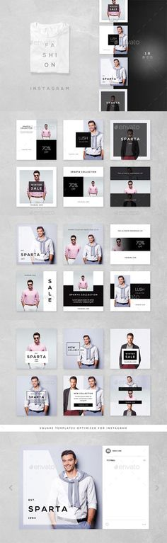 Fashion Instagram 18 Designs — Photoshop PSD #promotional #deal • Download ➝ graphicriver.net/...