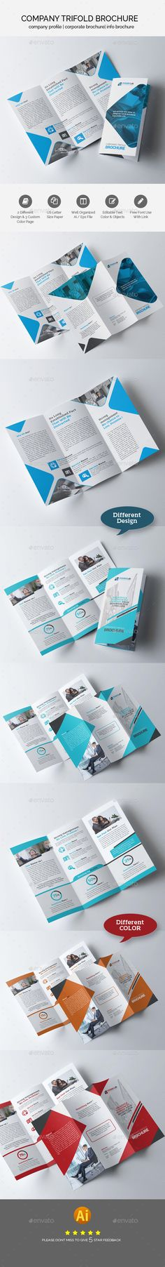 Business Trifold Brochure Design Bundle — EPS Template #color #elegant…