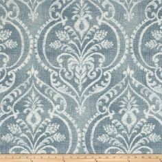 Screen printed on cotton duck; this versatile medium weight fabric is perfect for window treatments (draperies, valances, curtains and swags), accent pillows, duvet covers and upholstery. Colors include white and chambray blue.