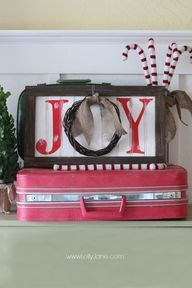 Christmas Joy Wood Wreath Sign | Positively Splendid {Crafts, Sewing, Recipes and Home Decor} - Part 2
