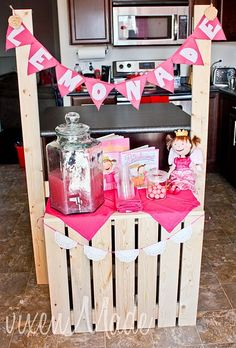 My kids love to have lemonade stands in the summer.....cute and inexpensive way to build one!!