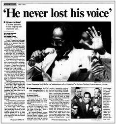 David Ruffin Temptations, Black Music Artists, Mocha, Detroit News, Detroit State, Diana Ross Supremes, Top 10 Hits, Detroit Free Press, Celebrity Biographies