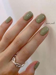 Nagellack Design, Nagellack Trends, Fall Nail Art Designs, Colorful Nail Designs, Green Nail Designs, Colorful Nail Art, Cute Acrylic Nails, Cute Nails, Cute Nail Colors