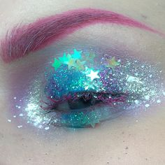 Pink brows and shimmer, glitter, translucent shadow♛   ♛~✿Ophelia Ryan ✿~♛