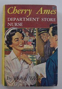 Cherry Ames Department Store Nurse 1956 Hellen Wells Hardcover Book
