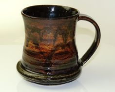 Hand Thrown Stoneware Pottery Dusk View Mug 20oz by PrimitivePots, $25.00