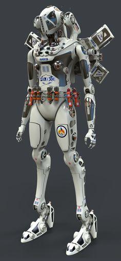 sekigan:  Robot Police by Oshanin on DeviantArt
