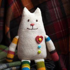 CROCHET PATTERN 15  Crochet cat. Amigurumi toy door TokarevaCrochet