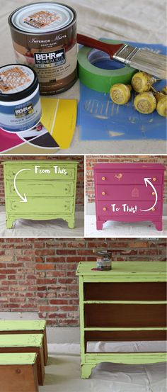 Add the shade Diva Glam to your list of project supplies, because this DIY dresser makeover from blogger Petticoat Junktion would make the perfect weekend activity. Plus, it would add tons of personalized and colorful character to your bedroom space.