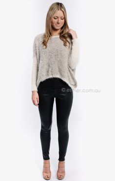 ebony jumper - beige