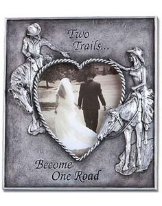 Montana Silversmiths Two Trails Picture Frame western wedding