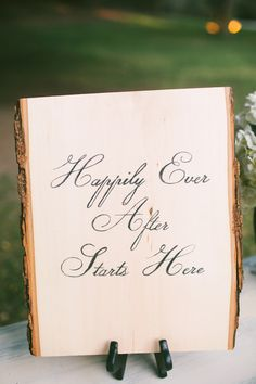 """#Wedding Signs: """"Happily Ever After Starts Here"""" 