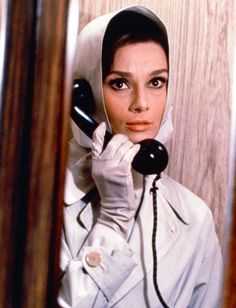 Audrey Hepburn on the phone