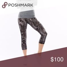 🆕 HPE Snake curve Capri black sport leggings From the new collection of Human Performance Engineering - Snake curve Capri black leggings. On their site they are selling it for $115 now. -Beautiful shape and fit with compression -Made from four-way stretch, 208gm2 super-soft fabric -Contoured, chafe-resistant coverseam stitching to enhance your body shape and sihouette -Hidden internal pocket to hold all your essentials -All over snake print -Anti-sheer and anti-pilling -FRESHFIT® Fabric 80%…