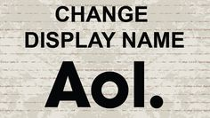 Change display name in AOL Mail  #AOL #AOLmail #mail #email #video #youtube #tutorial #howto #tips