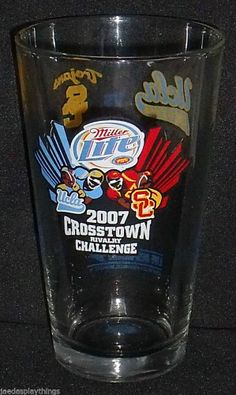 "USC Trojans Vs. UCLA Bruins 2007 Crosstown Rivalry 5.75"" Beer Glass FREE US Ship"