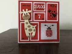 Marianne Design, Kids Cards, Collages, Giraffe, Have Fun, Cross Stitch, Paper Crafts, Layout, Holiday Decor