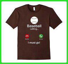 Mens Calling For Hobbies Love Baseball Hobby Funny T-Shirt 2XL Brown - Sports shirts (*Amazon Partner-Link)